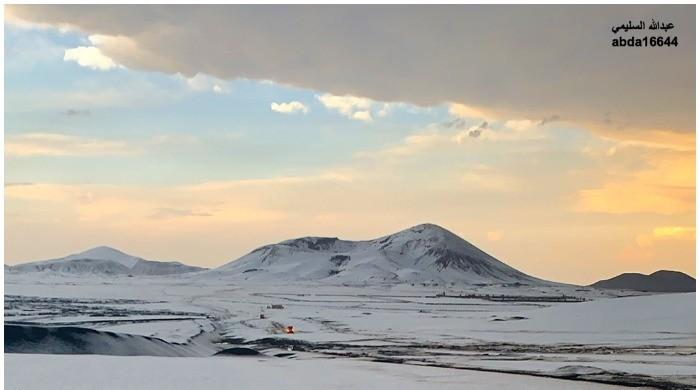 Breathtaking views after Saudi Arabia receives heavy snowfall