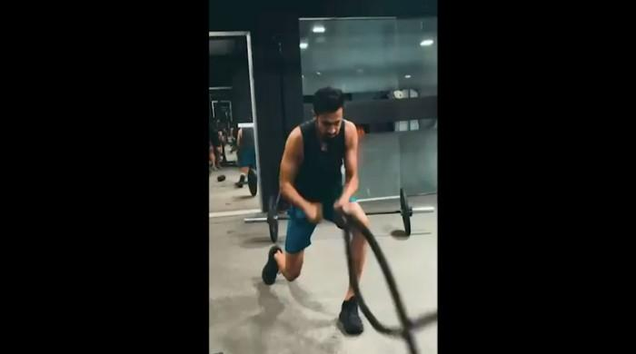 An exclusive look inside Shoaib Malik's current workout routine