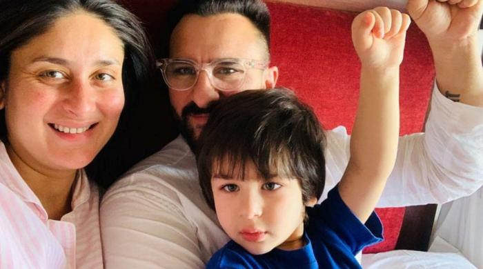 Kareena Kapoor shares adorable snap of Saif Ali Khan, Taimur Ali Khan