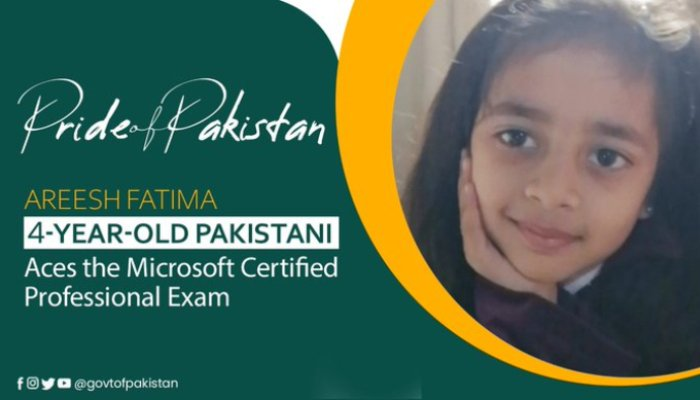 4-year-old girl from Karachi becomes youngest Microsoft professional