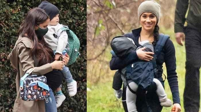 Meghan Markle and son Archie spotted for first time since Prince Harry's US return: photos