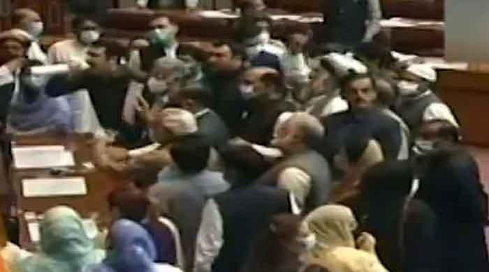 NA session adjourned indefinitely as angry Opposition lawmakers confront deputy speaker