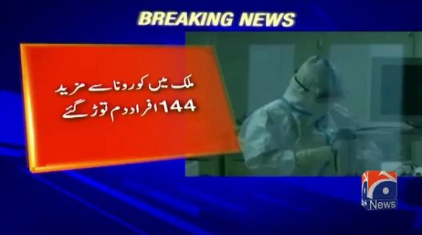 Coronavirus takes lives of 144 Pakistanis as third wave continues