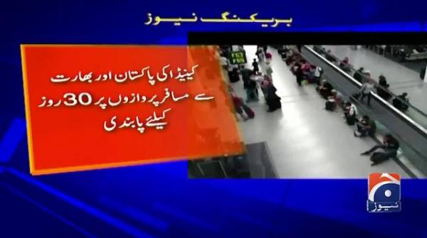 Canada suspends flights from Pakistan and India