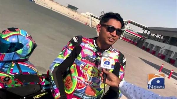 Geo News Special - Professional Pakistan biker Mohammad Usman promotes Pakistani Truck Art through his bike