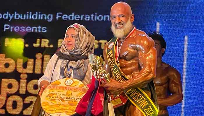 Lahori bodybuilder Abdul Waheed proves age is just a number