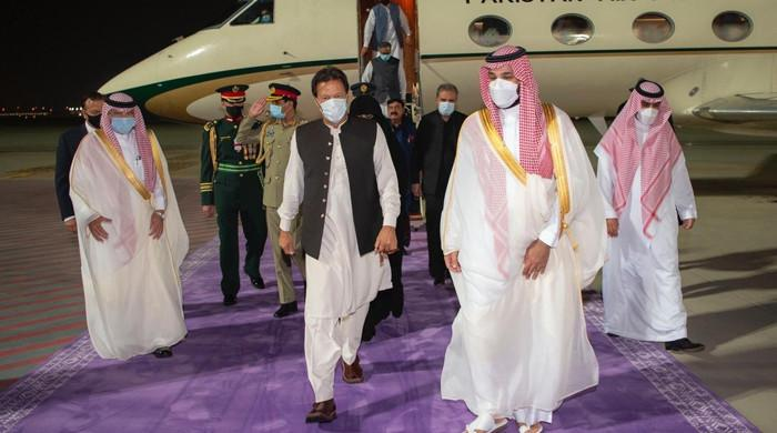 PM Imran Khan lands in Saudi Arabia on three-day visit