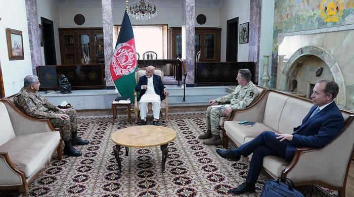 Ashraf Ghani lauds Pakistan's sincere, positive role in Afghan peace process: ISPR