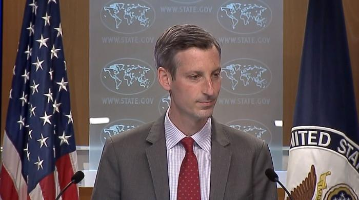 Watch: US State Dept spokesperson stumbles as reporters grill him on Palestine issue