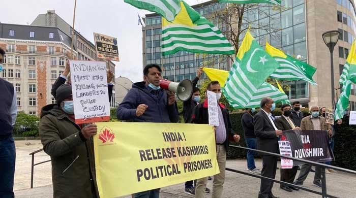 Protesters in Brussels express solidarity with oppressed Kashmiris