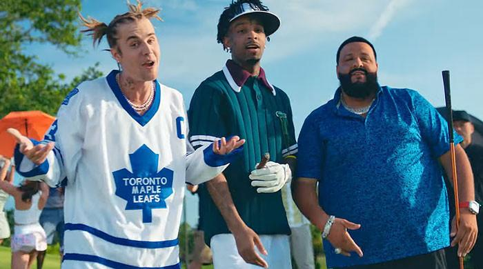 Justin Bieber, Savage 21 tribute Happy Gilmore in DJ Khaled's Let It Go