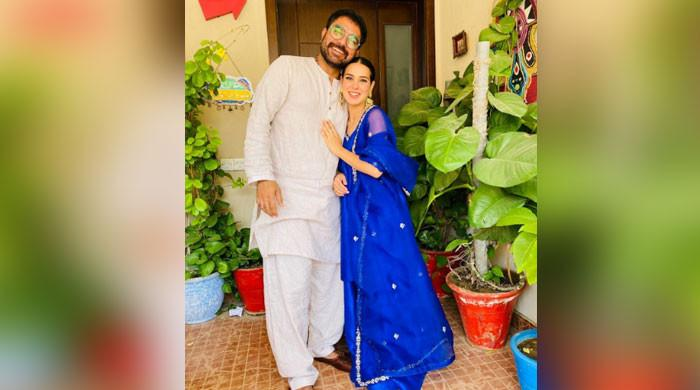 Iqra Aziz, Yasir Hussain look adorable as they celebrate Eid