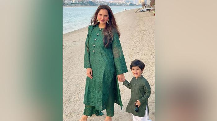 Sania Mirza, son wear matching outfits on Eid