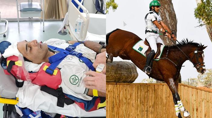 Pakistani equestrian Usman falls off horse, suffers injuries in bid to reach Olympics