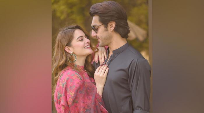 Take a look at Minal Khan, Ahsan Mohsin Ikram's engagement snaps