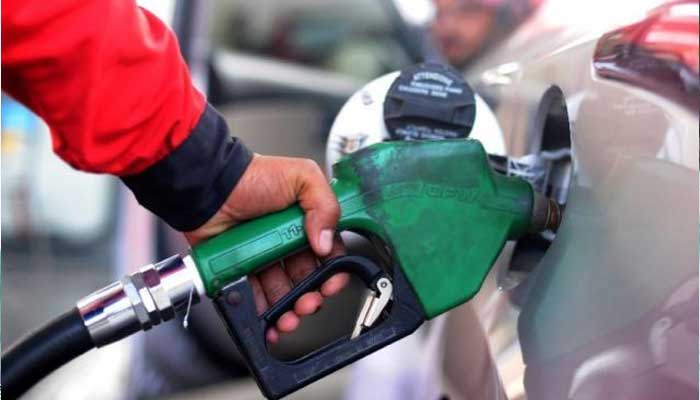 A cars fuel being filled at a petrol pump. Photo: File