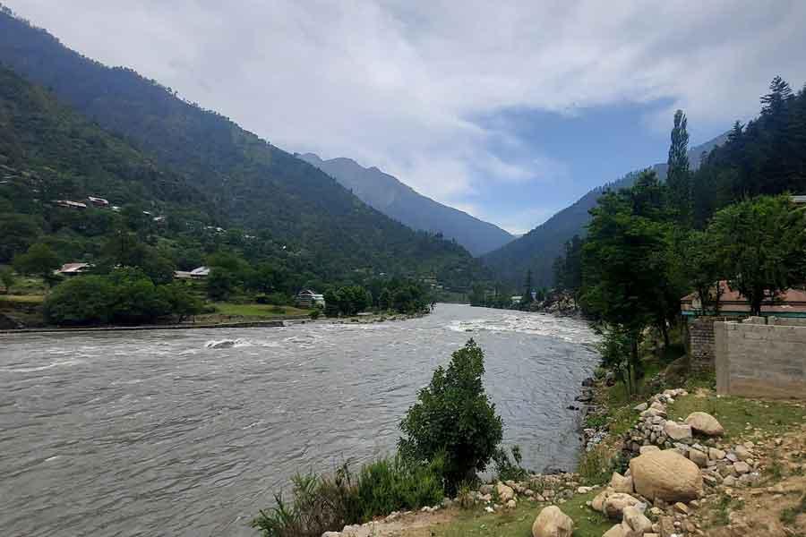 General view of the River Neelum in a Dawarian village, Neelum Valley, Azad Jammu and Kashmir, June 12, 2021. — Reuters/Abu Arqam Naqash