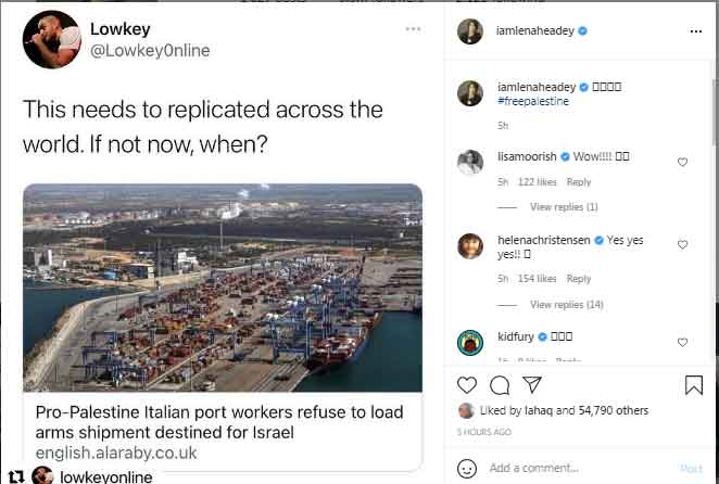 Game of Thrones Cersei Lannister calls for Palestines liberation