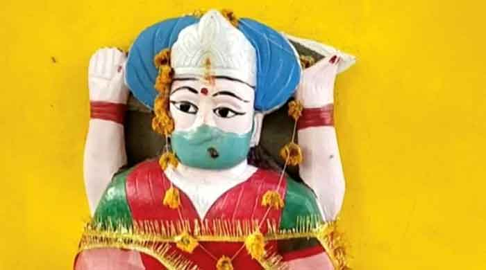 While scientists and doctors around the world are busy looking for cures for coronavirus, villagers in Indias northern Pratapgarh district believe erecting an idol of goddess corona and offering her prayers can help them get rid of the deadly virus. — Reuters