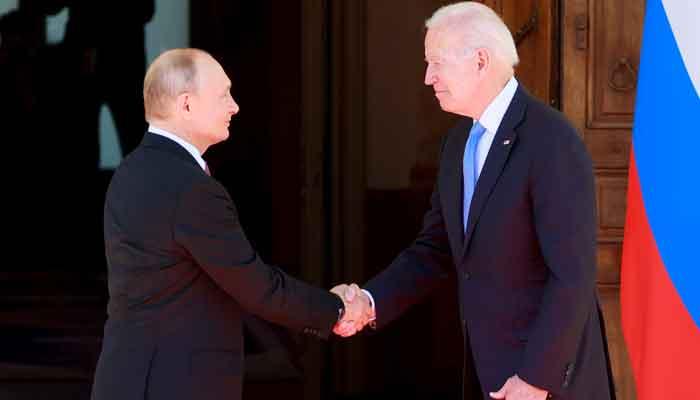 US President Joe Biden and Russias President Vladimir Putin shake hands during the US-Russia summit at Villa La Grange in Geneva, Switzerland, June 16, 2021. — Reuters/Denis Balibouse/Pool