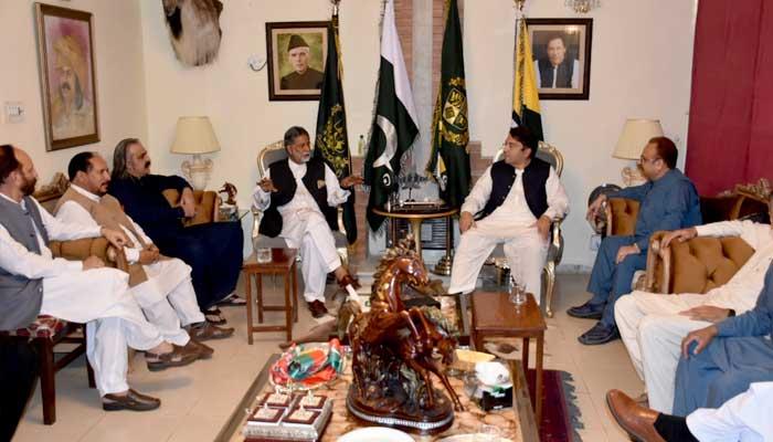 Mir Akbar Khan meetsPTI's Chief Organiser Saifullah Niazi in Islamabad.