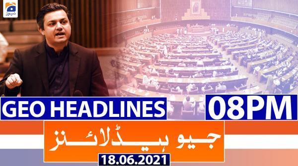 Geo Headlines 08 PM | 18th June 2021