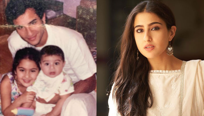 Sara Ali Khan shares a rare childhood photo with 'Abba' to wish him on Father's Day