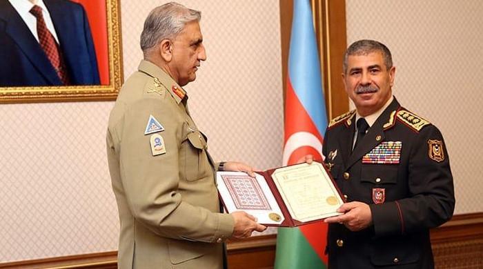 Gen Bajwa, Azerbaijan president discuss military cooperation, regional issues