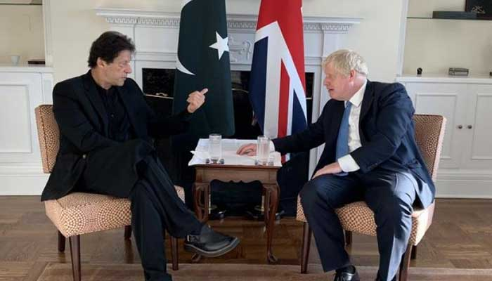 Prime Minister Imran Khan with his British counterpart Boris Johnson