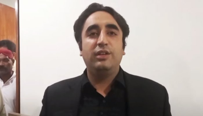 PPP Chairman Bilawal Bhutto-Zardari speaking to media at the Parliament in Islamabad, on June 22, 2021. — YouTube