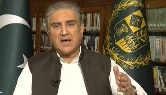 Minister for Foreign Affairs Shah Mahmood Qureshi, responding to why Pakistan is avoiding calling Osama Bin Laden a terrorist, on June 22, 2021. — Geo News