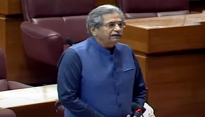 Federal Minister for Education Shafqat Mehmoodspeaking on the floor of the National Assembly during the budget session in Islamabad, on June 23, 2021. — YouTube