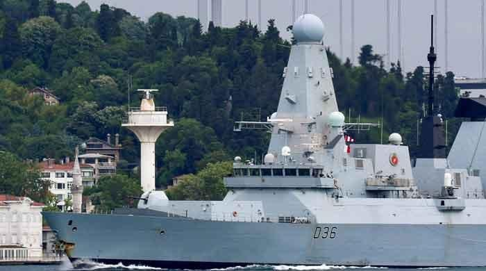 Russia fires warning shots, bombs at British destroyer to chase it out of Crimea waters