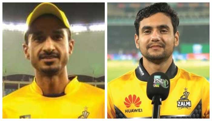 Peshawar Zalmis Umaid Asif (L) and Haider Ali (R).