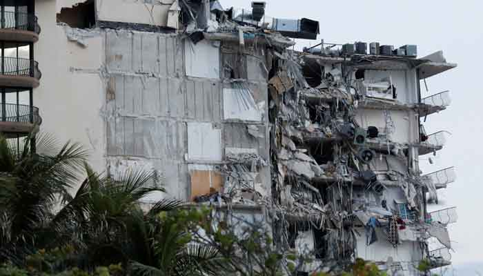 A building that partially collapsed is seen in Surfside near Miami Beach, Florida, US, June 24, 2021. — Reuters/Marco Bello