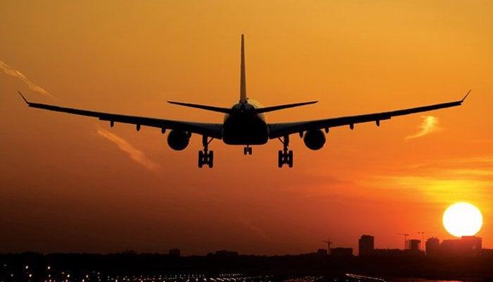 Image showing an aeroplane about to make a landing. Photo: File