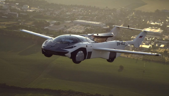 A picture of the flying car. Photo: Klein Vision via BBC