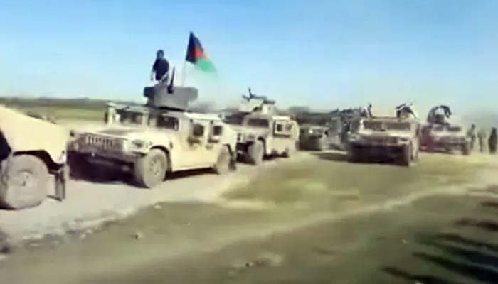 At least 700 military vehicles have reportedly fallen into the Talibans hands. Photo: The Sun via YouTube