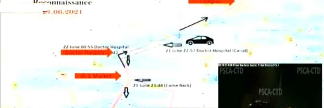 Reconnaissance by Eid Gul on car on June 21. — Geo News