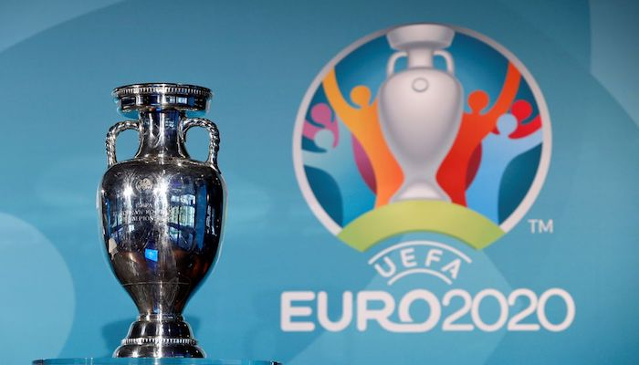 Football Soccer - UEFA Euro 2020 Munich Logo Launch - Olympia Park, Munich, Germany - 27/10/16. The trophy is seen during logo launch. Photo: Reuters