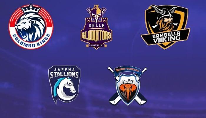 Logos of the teams in Lanka Premier League. Photo: Twitter/LPL