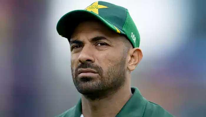 Pakistani fast bowler Wahab Riaz.
