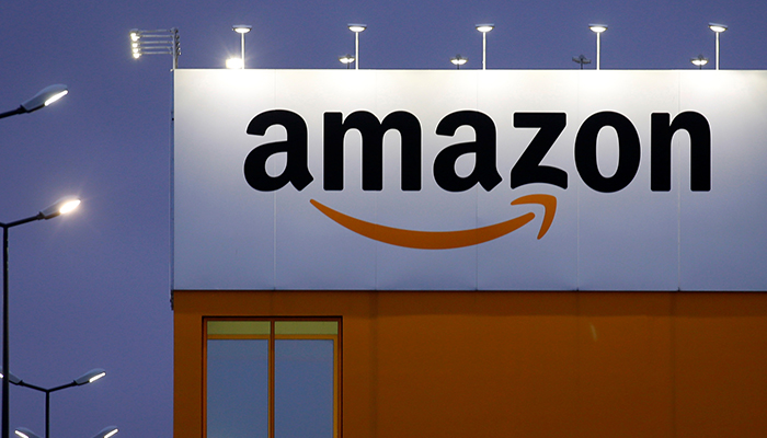 The logo of Amazon is seen at the company logistics center in Lauwin-Planque, northern France, February 20, 2017. — Reuters/File
