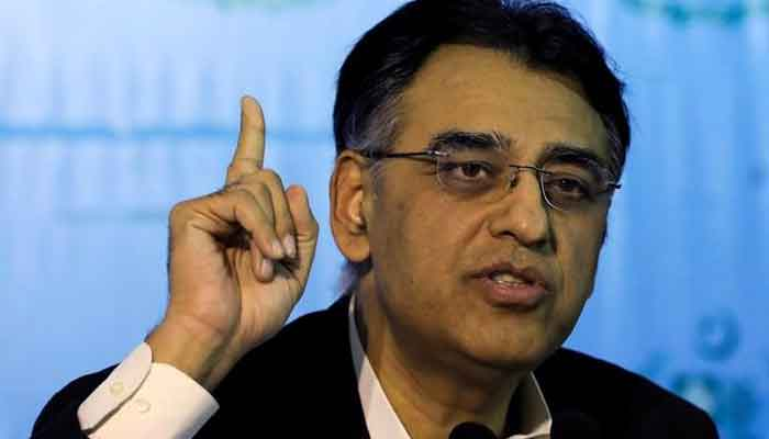 Minister for Planning, Development and Special Initiatives and main  of the National Command and Operation Centre, Asad Umar. — Reuters/File