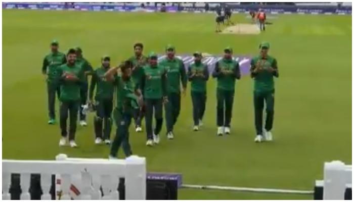 Photo of the Pakistani cricket squad — Screengrab via Twitter/ PCB