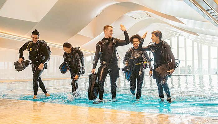 A view of scuba divers at the Deep Dive Dubai, the deepest pool in the world, in Dubai, United Arab Emirates, in this handout image taken in July 2021. — Reuters