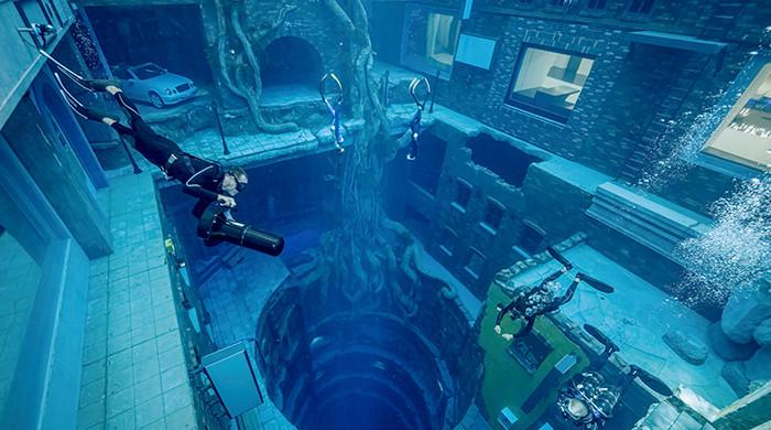 World's deepest pool for diving opens in Dubai