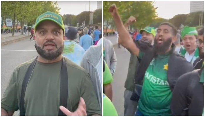 Angry Pakistani fans speak to Geo.tv outside Birmingham stadium.
