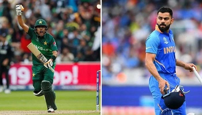 Pakistan captain Babar Azam and Indian captain Virat Kohli. — File photo