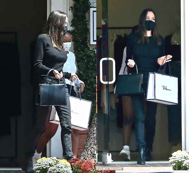 Angelina Jolie sizzles in clinging top and skinny jeans amid romance rumours with The Weeknd